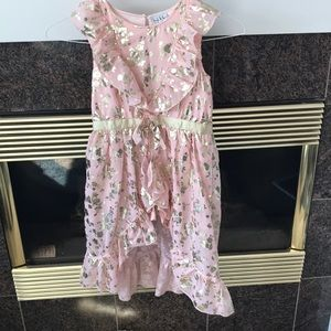 Nicole Miller girls pink and gold dress Sz 7/8